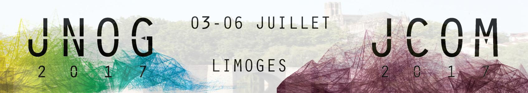 Du 3 au 6 juillet 2017, l'Optique sera mise à l'honneur dans la ville de Limoges ! La Capitale des Arts du Feu accueillera successivement la journée du Club Optique et Microondes (JCOM, le 03/07) puis les 37èmes Journées Nationales d'Optique Guidée (JNOG, du 04 au 06/07).